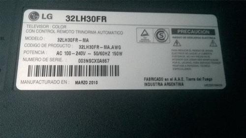 placa inverter para tv lcd lg 32lh30fr funcionando ok