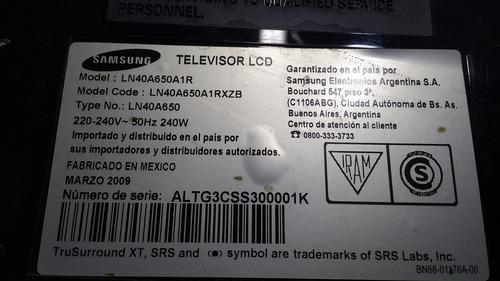 placa inverter samsung ln40a650 codigo ssb400w20v01