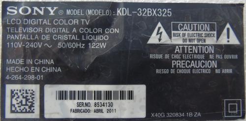 placa inverter tv sony kdl-32bx325 cód:715g4477-p01-000-003s