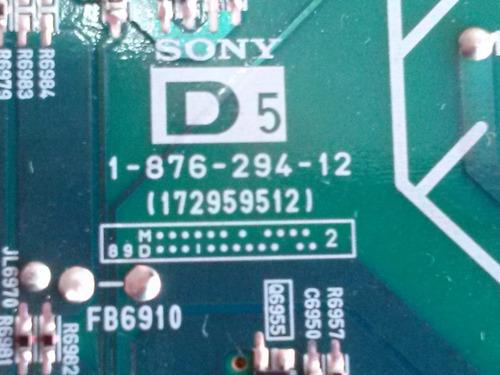 placa inverter tv sony klv52v410a  d-5 1-876-294-12