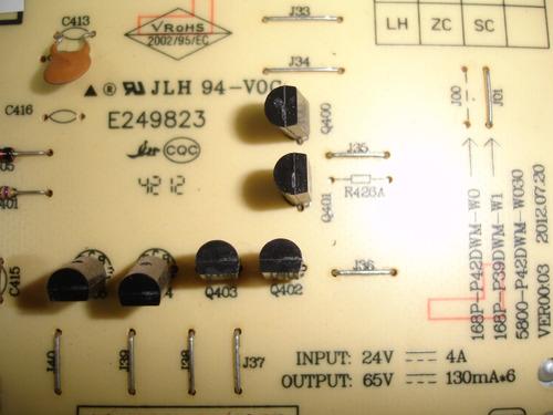 placa inverter tv toshiba le3973