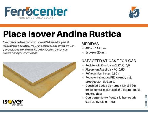 placa isover andina rustica pvc para cielorraso desmontable
