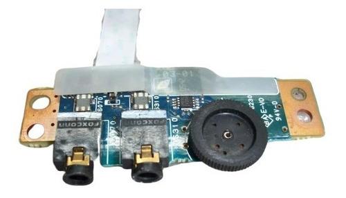 placa jack de audio y volumen para notebook toshiba a55