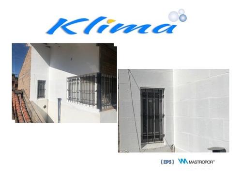 placa klimablock® aislante termico para paredes -antihumedad