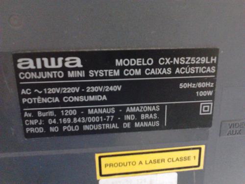 placa lateral som aiwa nsx-sz529 com defeito