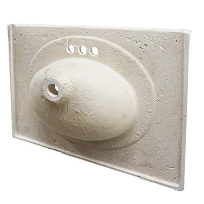 Placa lavabo venus color m rmol blanco 79x56 fox 2 165 for Placa marmol