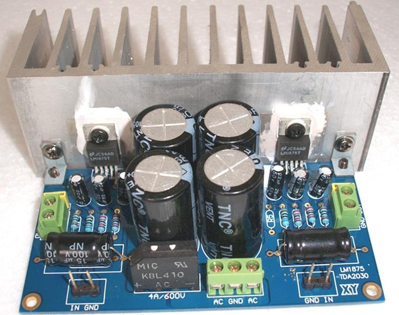 Placa Lisa Pcb Amplificador Estéreo Tda2050 Tda2030 Lm1875