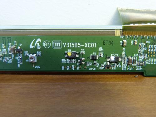 placa logica da tela tv samsung ln32b350f1 com defeito tcon