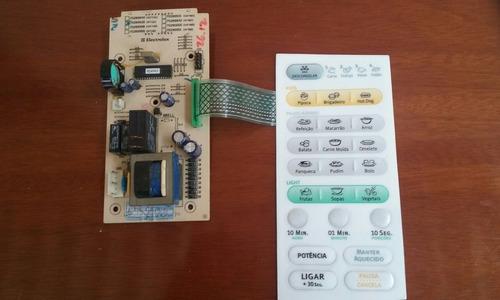 placa lógica e membrana  do painel do microondas me21s