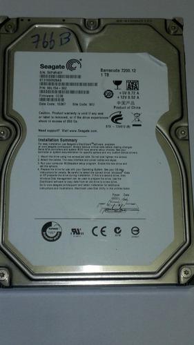 placa logica hd 1 tb st31000528as fw cc38 cod. 766b