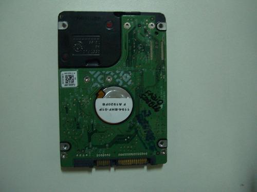 placa lógica hd 750gb notebook modelo wd7500bpvt-75hxzt3