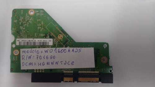 placa lógica hd modelo: wd1600aajs