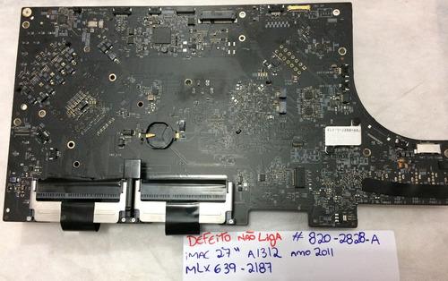 placa logica imac 27 deito p/reparo/peças ano 2009 até 2011