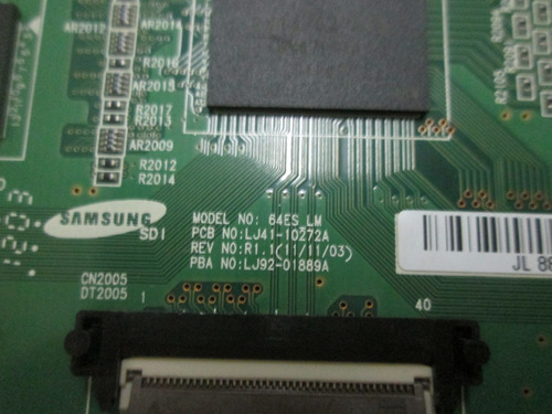 placa logica samsung plasma 64 lj41-10272a / lj92-01889a
