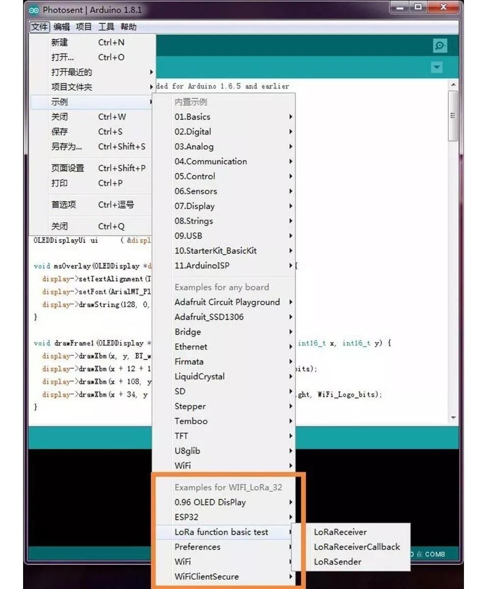 Placa Lora Esp32 Display Oled Wifi Bluetooth 433mhz Iot