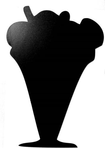 placa lousa memo blackboard sorvete 30cm