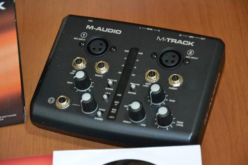 placa m audio m track i i  2x2 mobile interface usada