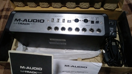placa m-audio m-track quad