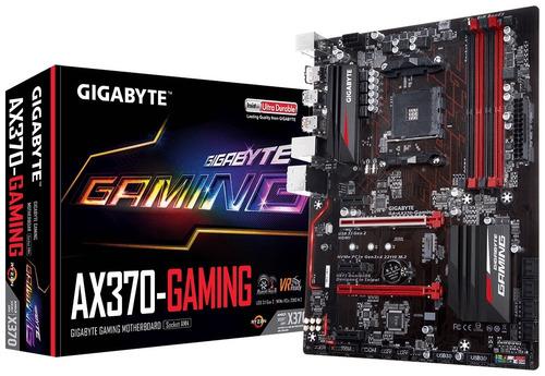 placa madre am4 para ryzen gigabyte ga-ax370-gaming  - nueva