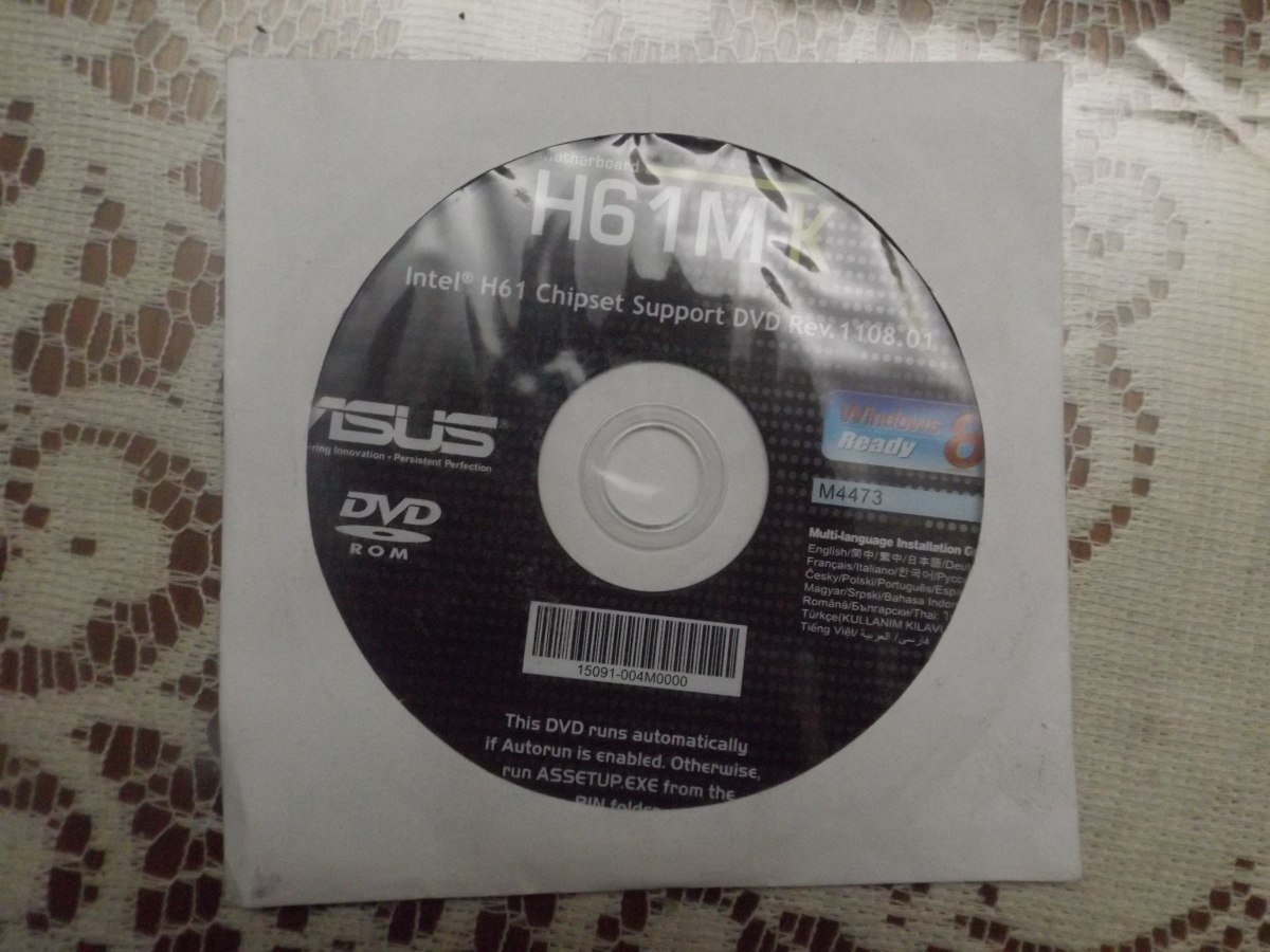 Placa Madre Asus H61m-k 1155 Dvd De Drivers Original