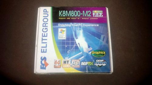 placa madre k8m800-m2   nueva