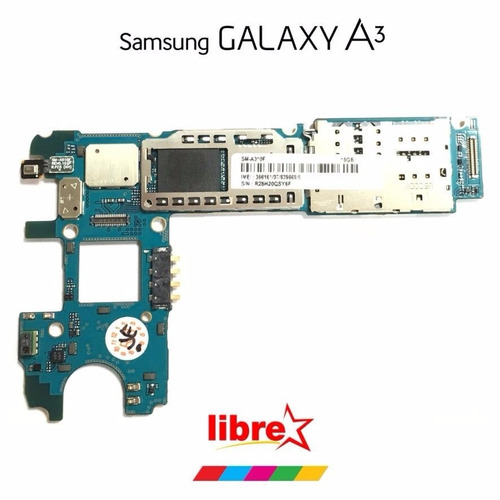placa madre samsung galaxy a3 2016 libre de fabrica