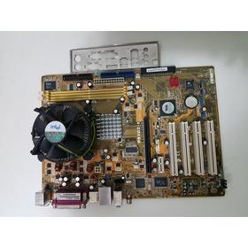 Placa Mãe Asus  Com Processador Pentiun 4+  Placa Video Asu