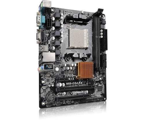 placa mae mb asrock am3+ n68-gs4 fx ddr3 processadores amd