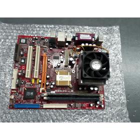 Placa Mae Pc Chips  + Processador Athlon Xp 1800 Ghz 1.5gb