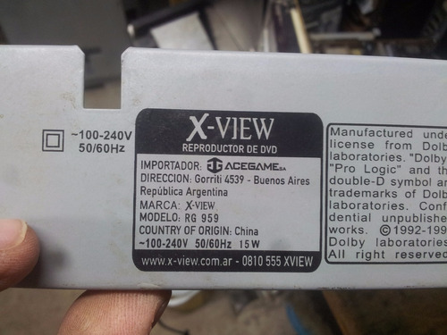 placa main dvd x wiew rg 959 andando