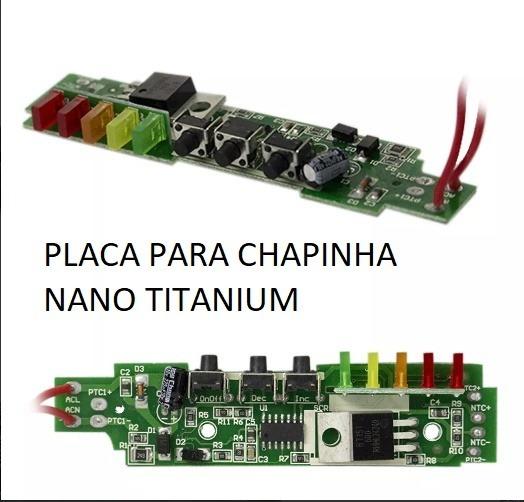 d05be9efb Placa Manutenção Chapinha Nano Titanium Bivolt Nano Promoção - R$ 59 ...