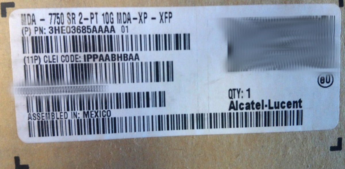 Placa Mda Alcatel Lucent 7750 Sr 2-pt Mda-xp-xfp Novo C/ Nf