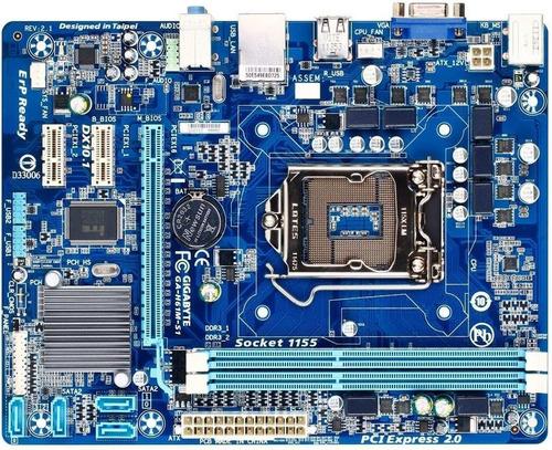 placa mãe 1155 gigabyte h61m-s1 lga 1155 2a/3a frete gratis