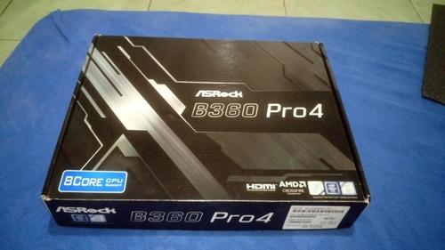 placa mãe asrock b360 pro4(1 mês de uso).garantia fabricante