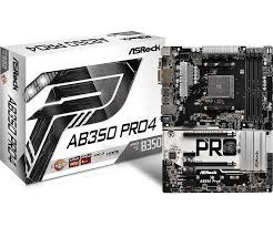 placa-mãe asrock p/ amd am4 ab350 pro4 ddr4 atx sp