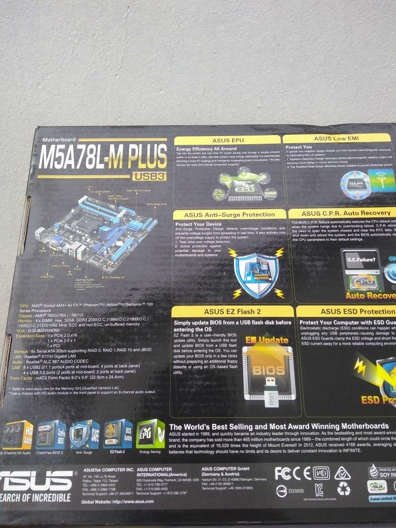 Placa Mãe Asus M5a78l-m Plus Usb3