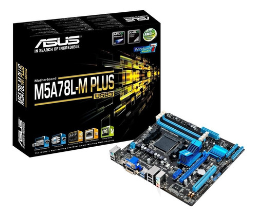 placa mãe asus m5a78l-m plus/usb3 760g, socket amd am3+