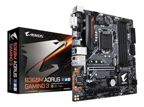 placa mãe b360m aorus gaming 3 intel matx ddr4 gigabyte