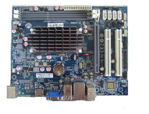 placa mãe ddr3 hdc-m + processador integrado, vga e hdmi