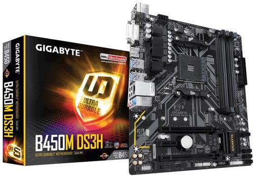 placa mãe gigabyte b450m ds3h amd am4 ddr4 ryzen b450