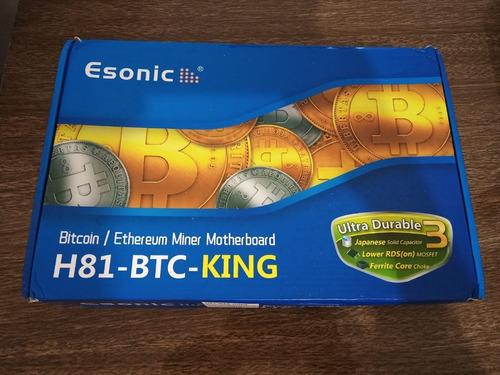 placa mãe h81 btc king intel mineração bitcoin lga 1150 ddr3