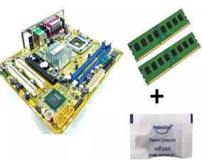 Placa Mãe Ipm41-d3 775 +memória Ddr3 4gb 1333+ Pasta Térmica