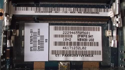 placa mãe notebook hp dv4 c/ bga danificada 575575-001