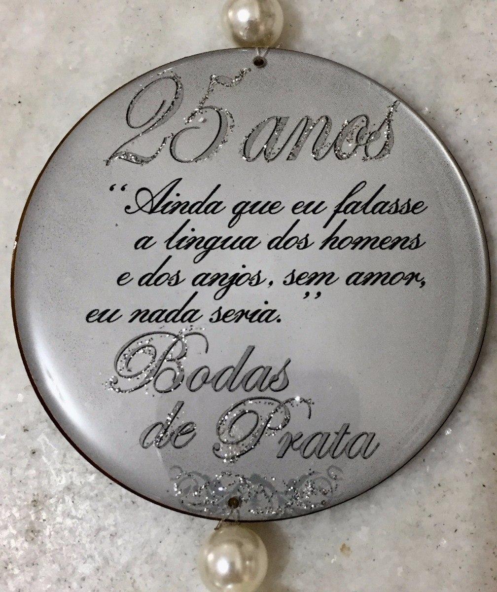 Placa Medalhão Bodas De Prata R 4999 Em Mercado Livre
