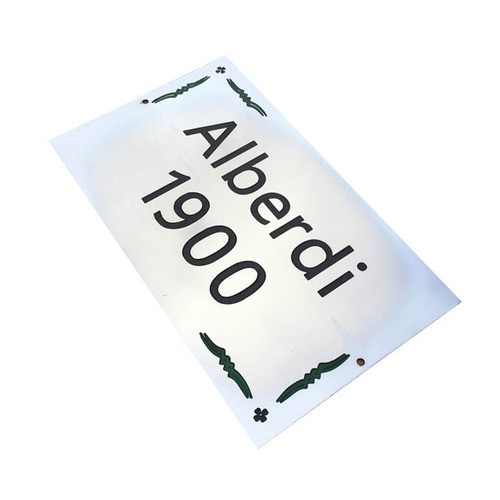 placa metal número frente de casa dirección apellido 15x10