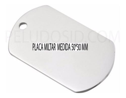 placa militar sin cadena placa militar placas militares