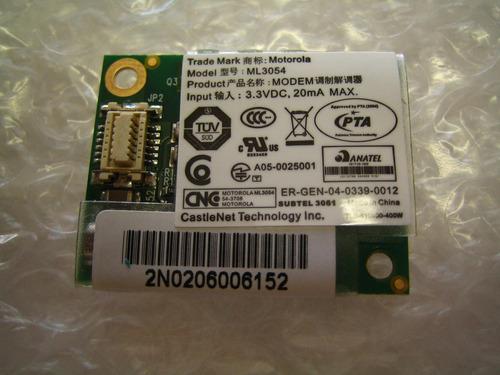placa modem ml3054- itautec w7415