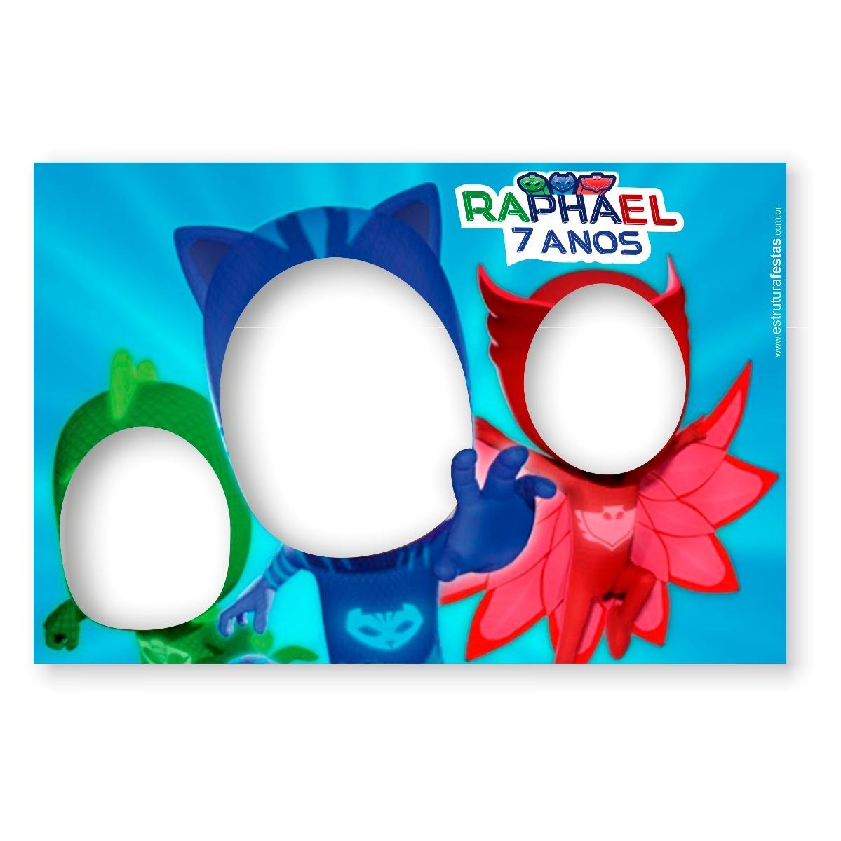 Placa Moldura Personagem Pj Masks Tamanho M R 95 17 Em Mercado