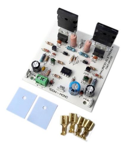 placa montada amplificador 100w rms 4 ohms 2sc5200/2sa1943