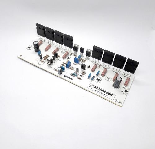 placa montada amplificador de audio 500w rms potencia amplif